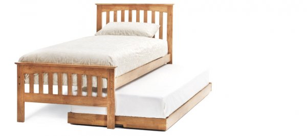 Serene Amelia Honey Oak Guest Bed