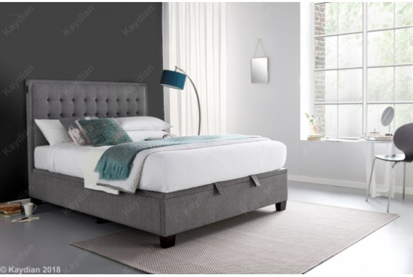 Kaydian Cheviot Auto Lift Ottoman Fabric Bed Frame