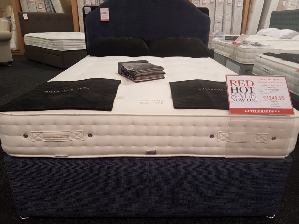 King Size Millbrook Wool 1700 Divan Bed With Headboard *Display Model*