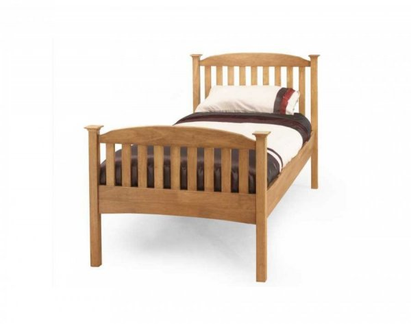 Serene Eleanor Honey Oak High Footend Bed