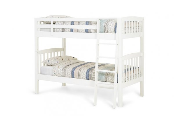 Serene Ella Opal White Bunk Bed