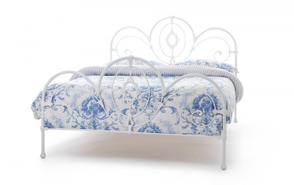 Serene Harriet White Gloss Precious Metal Bed Frame