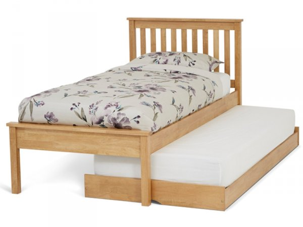 Serene Heather Honey Oak Guest Bed