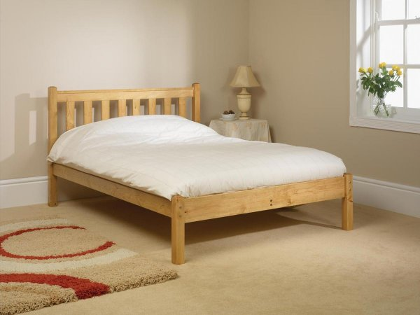 Shaker Low Foot Natural Custom Single Size Bed Frame