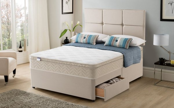Silentnight Rio Miracoil Cushion Top Divan Set