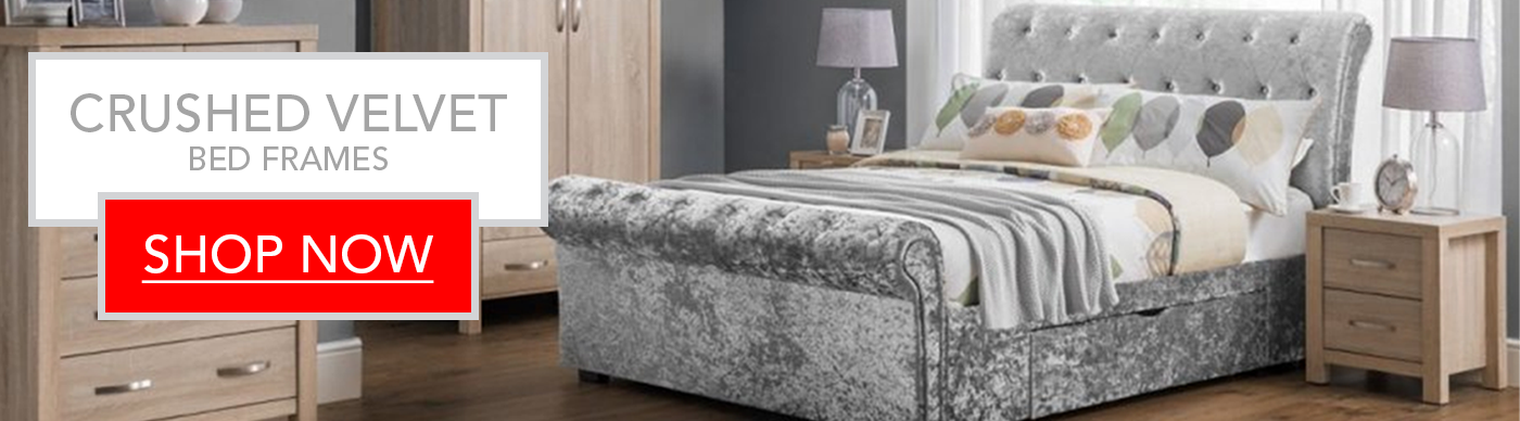 Fantastic Deals on Crushed Velvet Bed Frames | Includes Free Delivery