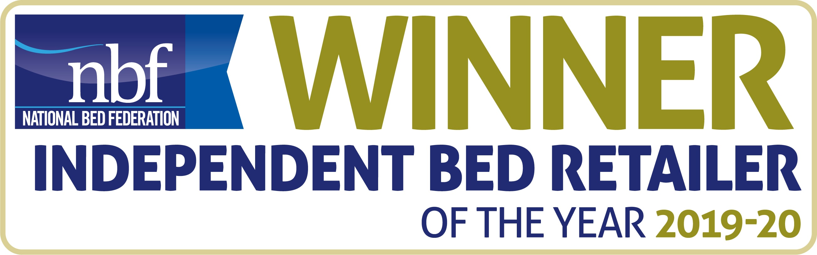 NBF Winner Independent Bed Retailer of the year 2019-2020