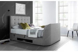 Kaydian Barnard TV Bed Ottoman Storage Fabric Bed Frame