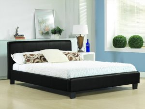 Time Living Hamburg Faux Leather Bed Frame