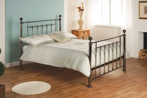 Limelight Libra Black Chrome Metal Bed Frame