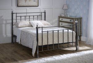 Limelight Libra Black Chrome with Crystals Bed Frame
