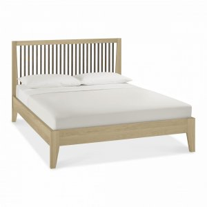 Bentley Designs Rimini Aged Oak & Weathered Oak Slatted Bed Frame