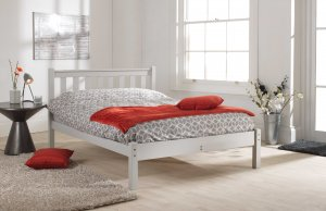 Friendship Mill Shaker Low Foot End Bed Frame (White or Grey)
