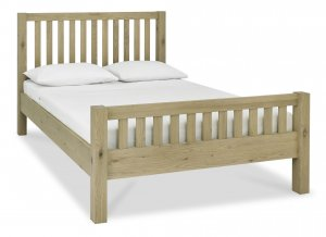 Bentley Designs Turin Aged Oak Slatted High Footend Bed Frame