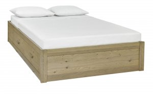 Bentley Designs Turin Aged Oak Storage Bed Frame