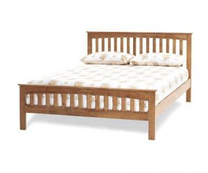 Serene Amelia Honey Oak Bed