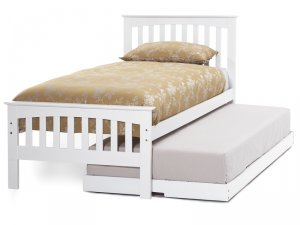 Serene Amelia Opal White Guest Bed