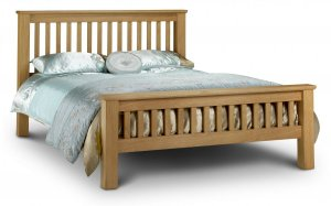 Julian Bowen Amsterdam High Foot End Oak Bed Frame