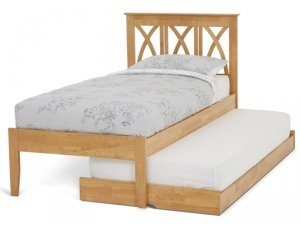 Serene Autumn Honey Oak Guest Bed