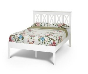 Serene Autumn Opal White Bed