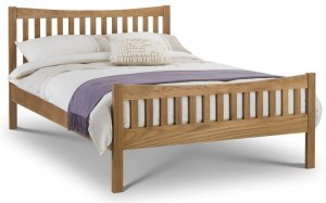 Julian Bowen Bergamo Solid Oak Bed Frame
