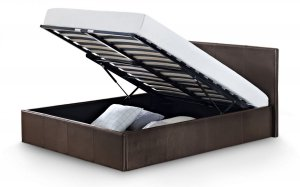 Julian Bowen Cosmo Ottoman Storage Faux Leather Bed Frame