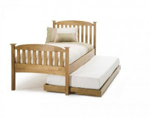 Serene Eleanor Honey Oak High Footend Guest Bed