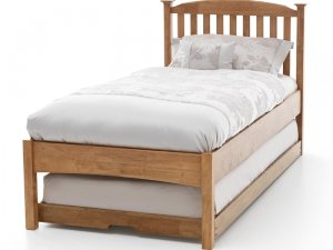 Serene Eleanor Honey Oak Low Footend Guest Bed