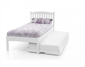 Serene Eleanor Opal White Low Footend Guest Bed