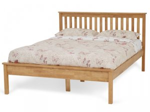 Serene Heather Honey Oak Bed