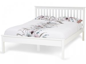 Serene Heather Opal White Bed