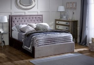 Limelight Rhea Storage Fabric Bed