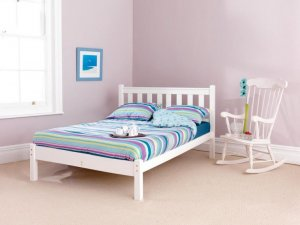 Shaker Low Foot White Custom Double Size Bed Frame