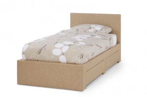 Serene Scarlett Fabric Bed with Drawers