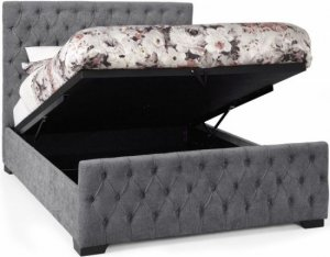 Serene Lillian Ottoman Fabric Bed Frame
