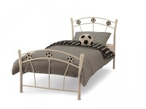 Serene Soccer White Gloss Kids Bed Frame