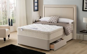 Silentnight Oslo Miracoil Memory Cushion Top Divan Set