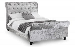 Julian Bowen Verona Deep Button Scroll Fabric Bed Frame