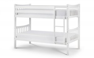 Julian Bowen Zodiac White Wooden Bunk Bed