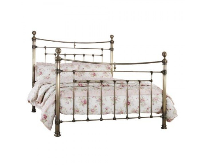 Serene Edmond Antique Brass Precious Metal Bed Frame