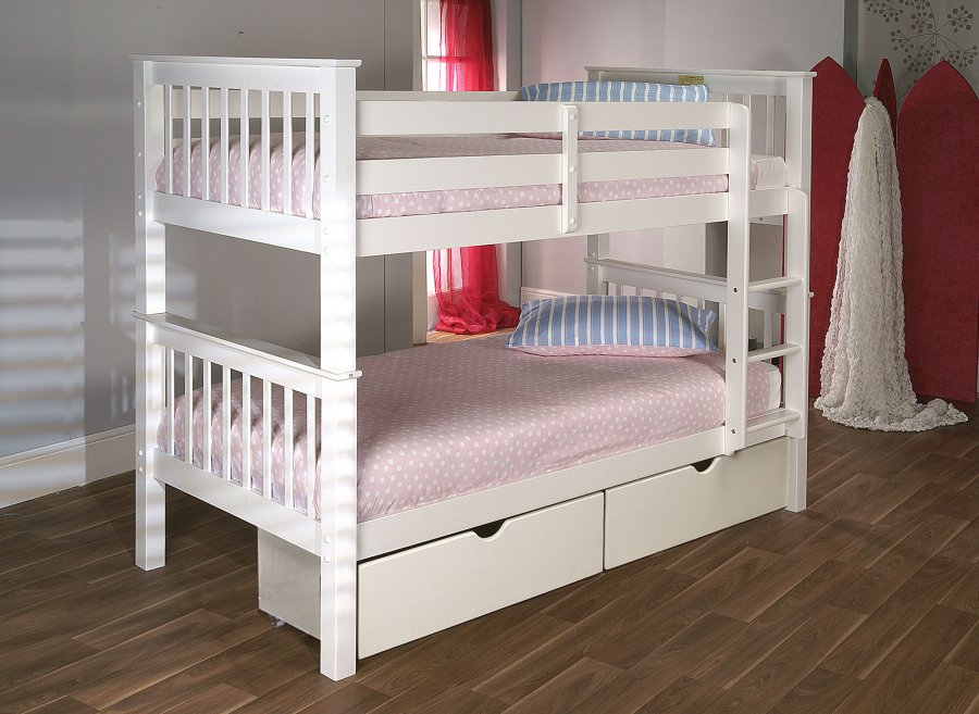 Limelight Pavo White Pine Wooden Bunk Bed