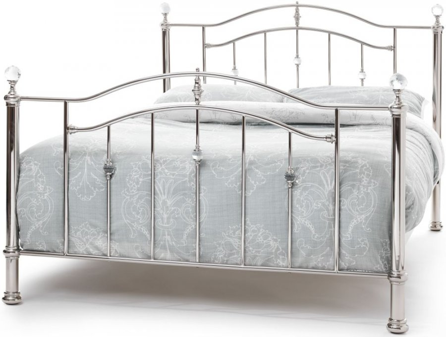 Serene Ashley Nickel Bed Frame