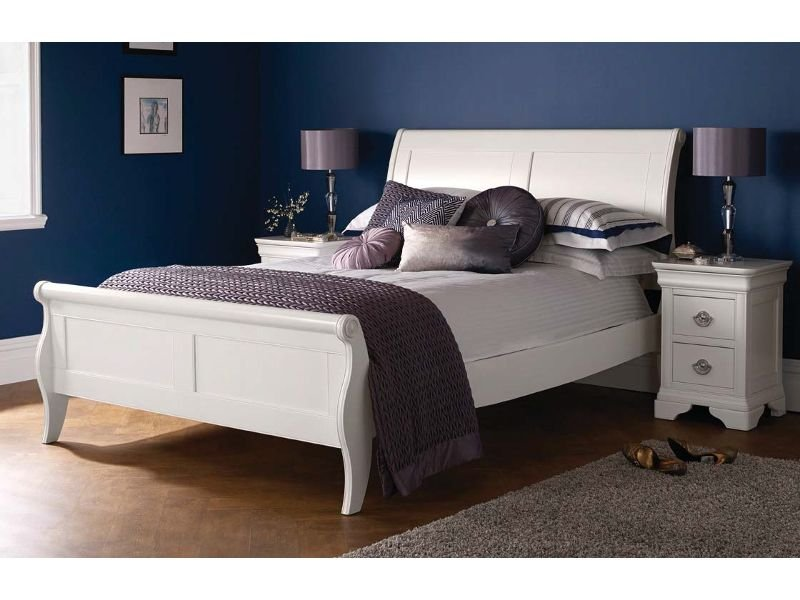 Bentley Designs Chantilly White Panel Bed Frame