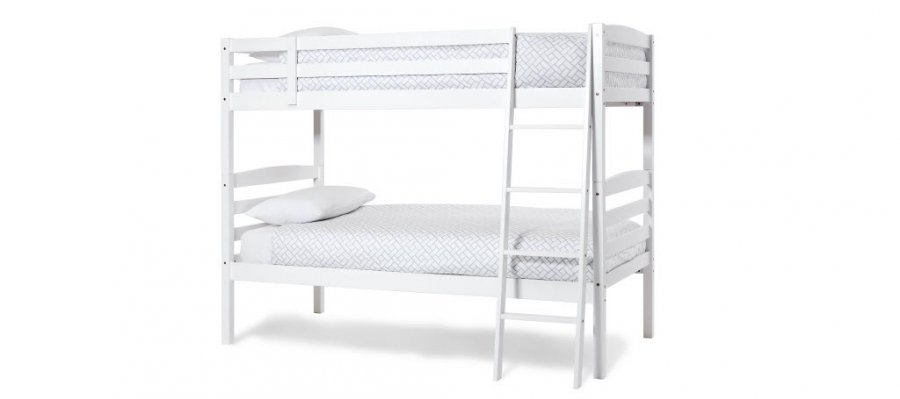 Serene Brooke Opal White Bunk Bed
