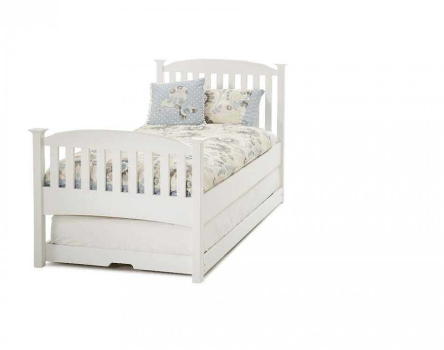Serene Eleanor Opal White High Footend Guest Bed
