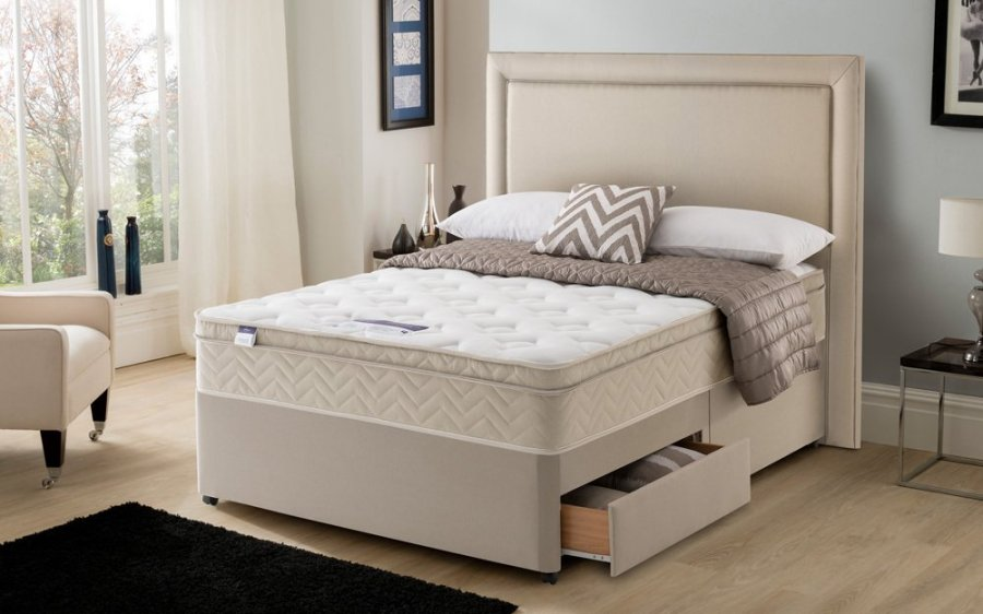 Silentnight Oslo Miracoil Memory Cushion Top Divan Bed
